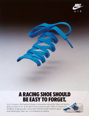 A Racing Shoe Should be Easy to Forget