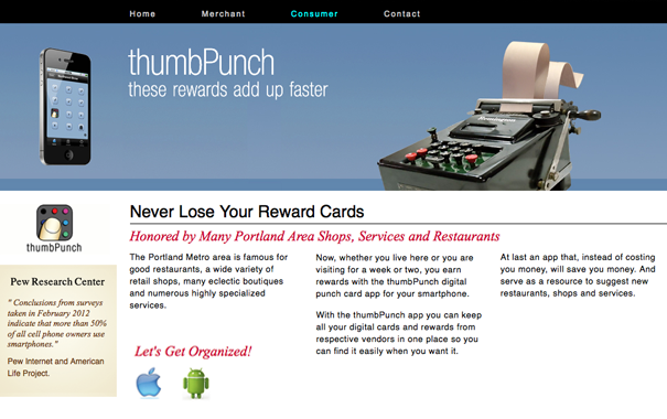thumbPunch App Site